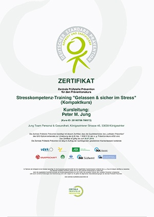 ZPP Zertifikat Gelassen und sicher im Stress