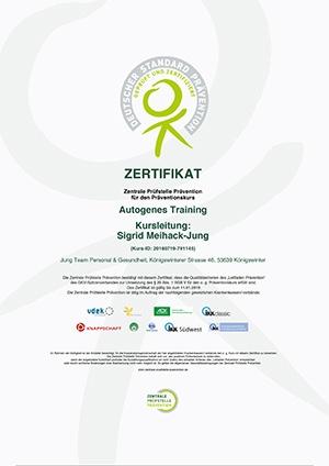 ZPP Zertifikat Sigrid Meihack-Jung