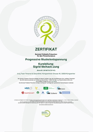 ZPP Zertifikat Progressive Muskelentspannung